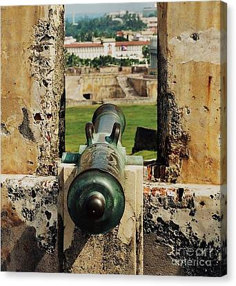 Cannon At El Morro Canvas Print by Marcus Dagan