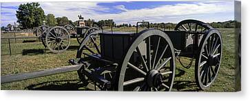 Cannon At Gettysburg National Military Canvas Print by Panoramic Images