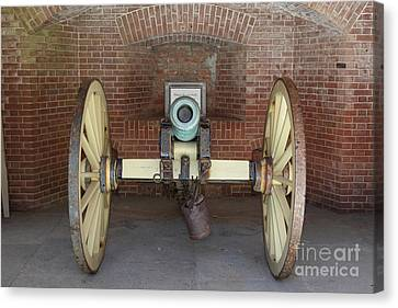 Cannon At San Francisco Fort Point 5d21490 Canvas Print by Wingsdomain Art and Photography
