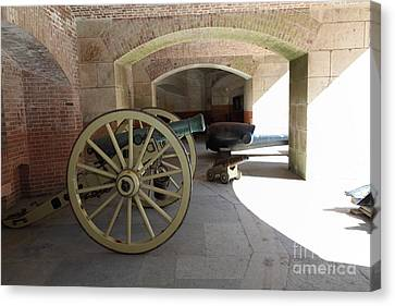 Cannon At San Francisco Fort Point 5d21495 Canvas Print by Wingsdomain Art and Photography