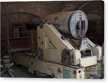 Cannon At San Francisco Fort Point 5d21499 Canvas Print by Wingsdomain Art and Photography