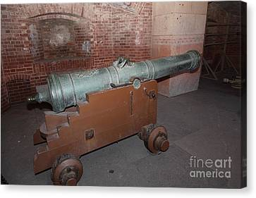 Cannon At San Francisco Fort Point 5d21503 Canvas Print by Wingsdomain Art and Photography