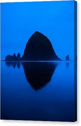 Cannon Beach Blue Canvas Print