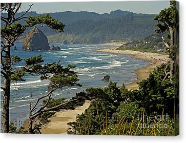 Canvas Print featuring the photograph Cannon Beach Seascape by Nick  Boren