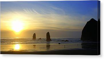 Cannon Beach Sunset Canvas Print by DerekTXFactor Creative