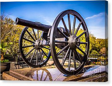 Cannon In New Orleans Washington Artillery Park Canvas Print by Paul Velgos