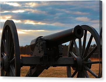 Cannon Of Manassas Battlefield Canvas Print