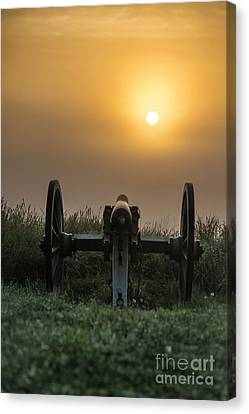 Cannon On Cemetery Hill Gettysburg Canvas Print by John Greim