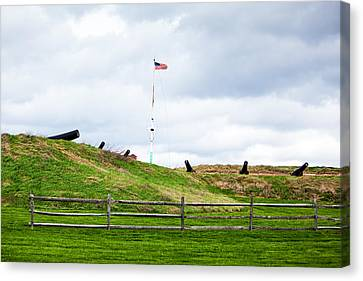 Cannons And The Star Spangled Banner Canvas Print by Susan Schmitz