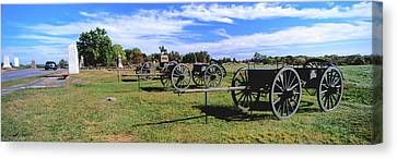 Cannons At Gettysburg National Military Canvas Print by Panoramic Images