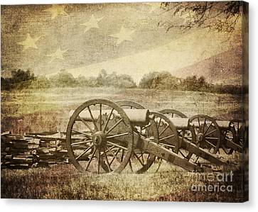 Cannons At Pea Ridge Canvas Print