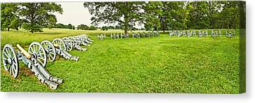 Cannons In A Park, Valley Forge Canvas Print by Panoramic Images