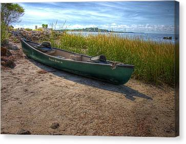 Canoe At Cedar Key Canvas Print by Donald Williams