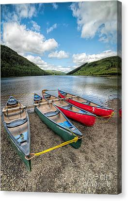 Canoe Break Canvas Print by Adrian Evans