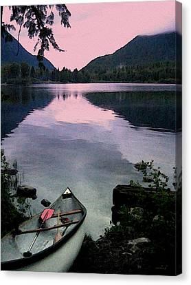 Canoe Day Canvas Print