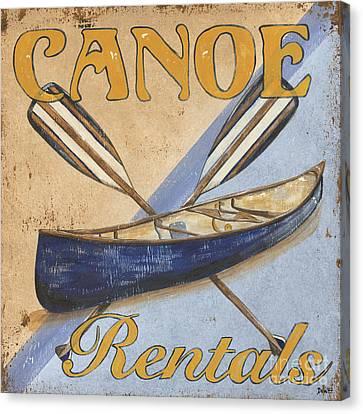 Canoe Rentals Canvas Print by Debbie DeWitt