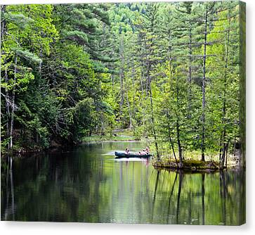 Canoe Ride Canvas Print