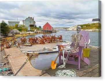Canoe Canvas Print - Canoe Rides For One Dollar by Betsy Knapp