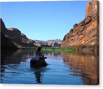 Canoe Trip Canvas Print