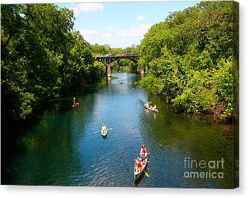 Canoeing The Springs Canvas Print by Randy Smith