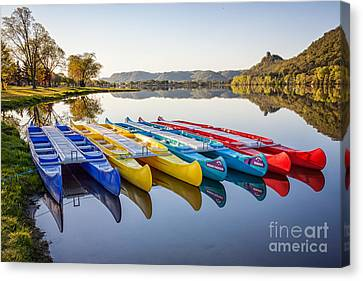 Canoes Color 2x3 Canvas Print by Kari Yearous