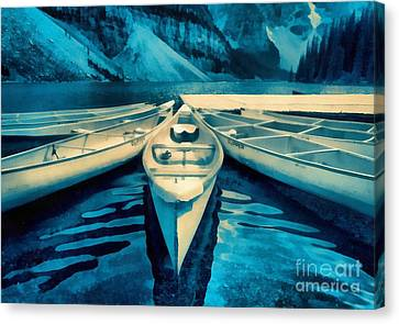 Canoes Canvas Print by Edward Fielding