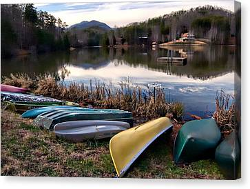 Canoes In Nc Canvas Print