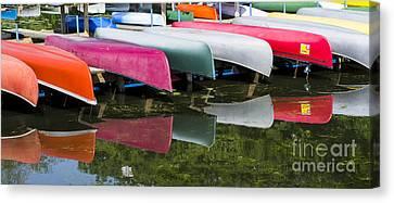 canoes - Lake Wingra - Madison  Canvas Print