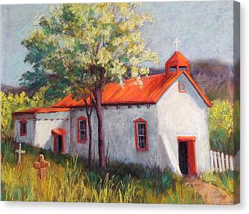 Canoncito Church Canvas Print by Candy Mayer