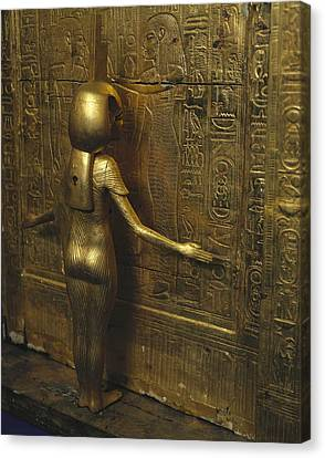 Canopic Chest Of Tutankhamun. 1333 Bc Canvas Print