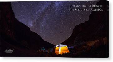 Canopy Of Stars - Pano Canvas Print