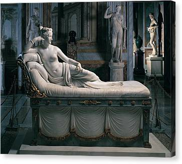 Canova Antonio, Pauline Borghese Canvas Print by Everett