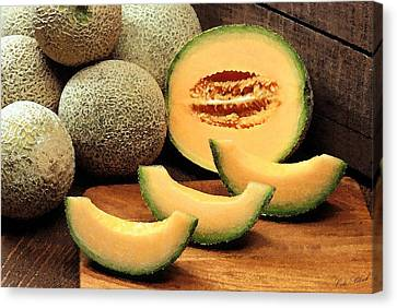 Cantaloupe Slices Canvas Print by Cole Black