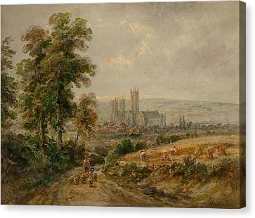 Canterbury Cathedral Canvas Print by Henry Earp