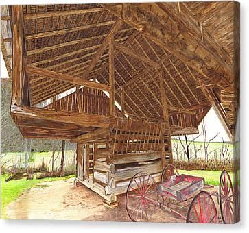 Cantilever Barn Canvas Print by Cloud Farrow