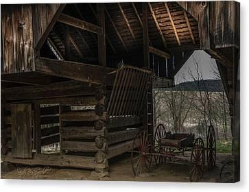 Cantilever Barn Canvas Print by Sandy Baskeyfield