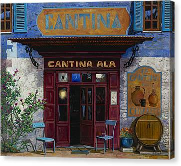 Wine Scene Canvas Print - cantina Ala by Guido Borelli