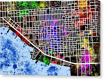 Canton Map Canvas Print by Stephen Younts