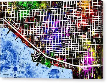 Canton Map Canvas Print
