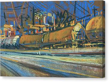 Canton Tracks Canvas Print by Donald Maier