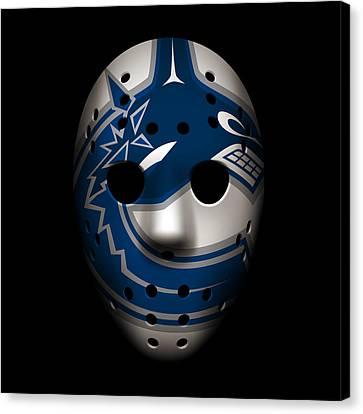 Canucks Goalie Mask Canvas Print by Joe Hamilton