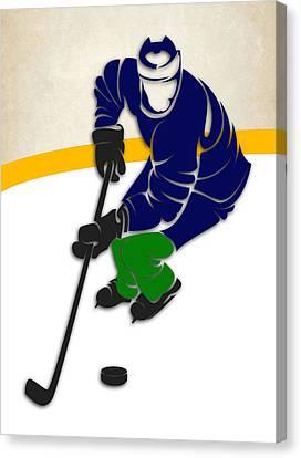 Vancouver Canvas Print - Canucks Hockey Rink by Joe Hamilton