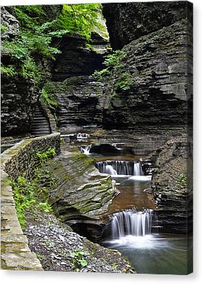 Cavern Canvas Print - Canyon Cascade by Frozen in Time Fine Art Photography