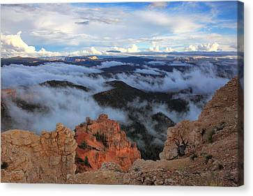 Canyon Clouds Canvas Print