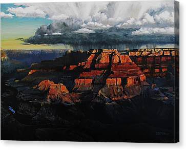 Canyon Colors Canvas Print by David Mittner