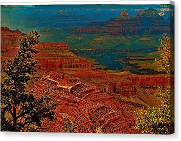 Canyon Colours Show Through Canvas Print by Jim Hogg