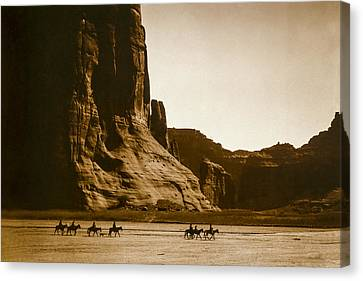Canyon De Chelly Circa 1904 Canvas Print by Aged Pixel