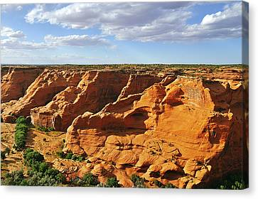 Canyon De Chelly From Face Rock Overlook Canvas Print by Christine Till