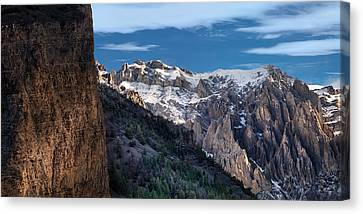 Canyon Light And Form Canvas Print by Leland D Howard