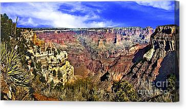 The Grand Canyon 72x35 Canvas Print by Bob and Nadine Johnston